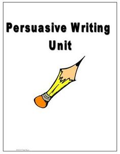 Persuasive writing, Writing graphic organizers and Graphic