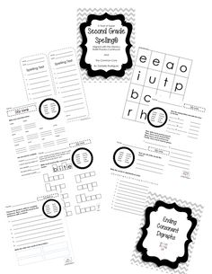 1000+ images about Second Grade Printables! on Pinterest