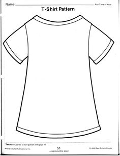 FREE T-Shirt Template~ Students decorate their t-shirt