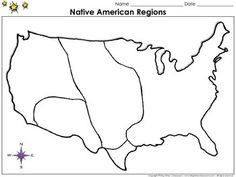 Study a map that list the eight cultural regions of Native