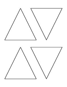 3 inch triangle pattern. Use the printable outline for