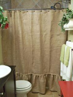 Burlap Trim Drop Cloth Curtains For The Home Pinterest Drop