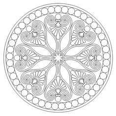 Flower Mandala Picture to Color, Stained Glass Window