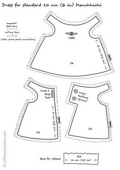 1000+ images about Patterns for doll clothing on Pinterest