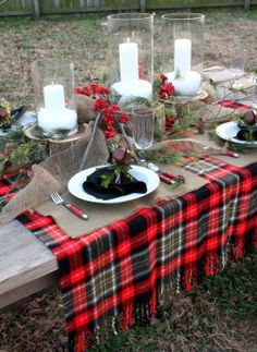 ring back dining chair walker with and basket 1000+ images about christmas red plaid tablecloth on pinterest | plaid, party ...