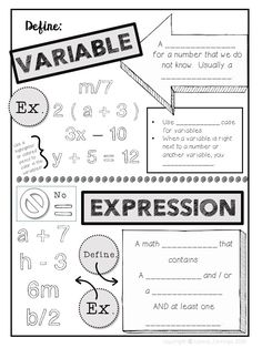 1000+ images about Equations and Expressions on Pinterest