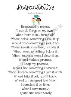 1000+ images about Responsibility assembly on Pinterest