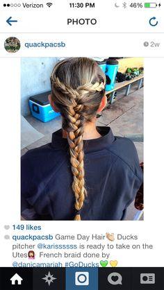 Softball Hair Softball Hairstyles For Long Hair Softball Hair