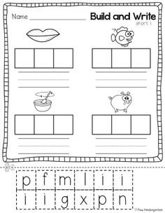 Box up the words sound by sound! Perfect for kids who are