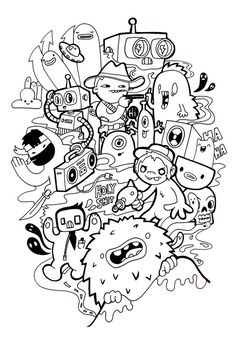 #DoodleArt by Maleel Ceballo. A Tumblr blog of Maleel is