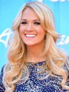 Carrie Underwood Long Hairstyle Curls For Thin Hair