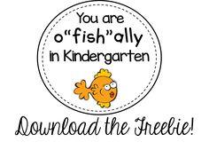 You are o'fish'ally in kindergarten (also k-5th grade
