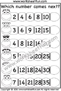Skip counting, Worksheets and By 2 on Pinterest