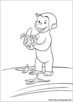 Curious george, Bookmarks and Black and white on Pinterest