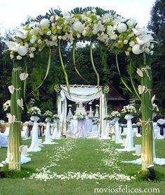 Wedding Ceremony Outdoor Garden Wedding Ceremony Decorations