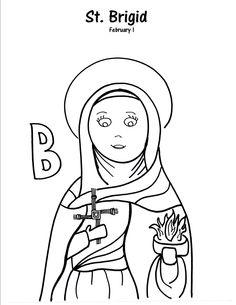 St Frances Xavier Cabrini Catholic Coloring Page