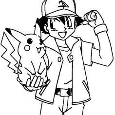 #pokemonkleurplaten Pickachu http://www.pokemon-kleurplaat