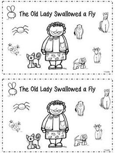there was an old lady who swallowed a fly color sheet