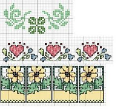 Counted Cross Stitch Garden Borders Combine To Create A Beautiful