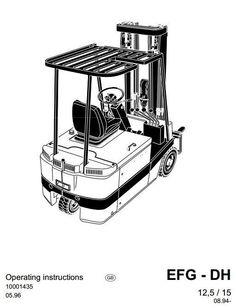 Jungheinrich Electric Lift Truck EFG DFac 13, DFac 15