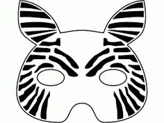 Zebra mask templates including a coloring page version of