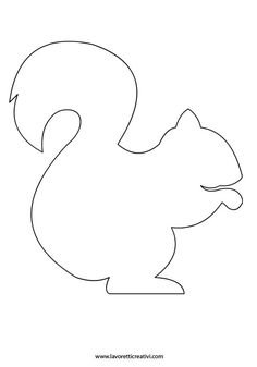 Squirrel pattern. Use the printable outline for crafts