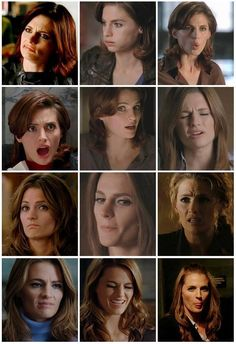 """I'm Not Laughing"""" Kate Beckett Stana Katic ABC Castle Happy"""
