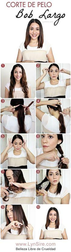 Long Bob Haircut Tutorial! How To Cut Your Own Hair LynSire