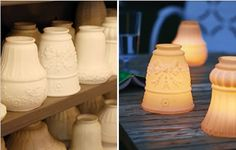 votive cups made from old light fixtureceiling fan globes