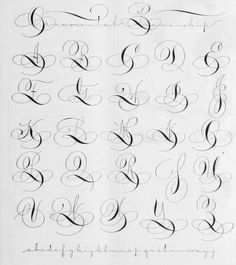 1000+ ideas about Calligraphy Alphabet on Pinterest