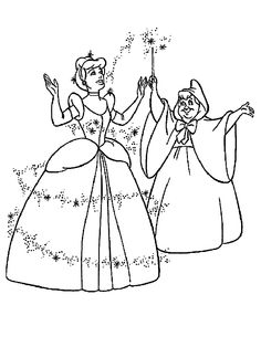 1000+ images about Cinderella Coloring Pages on Pinterest
