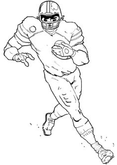 Football players, Coloring pages and Football on Pinterest