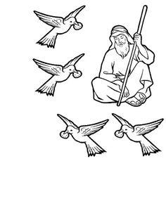 Free visuals: Elijah and the ravens God looks after Elijah