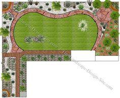 L Shaped Garden Design Idea Gardens And Backyards Pinterest