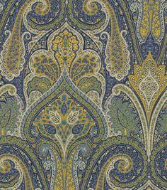 Upholstery Fabric Waverly Kaleidoscope Turquoise Upholstery