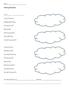 MAKING INFERENCES THROUGH POETRY {FREE DOWNLOAD