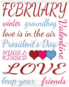 february clip art month of