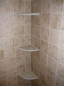 Tile Shower Shelves  Bathroom Remodel  Pinterest  Diy