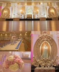 Flower backdrop for Thai wedding ceremony at 137 Pillars ...