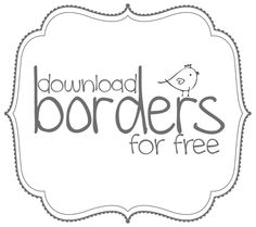 1000+ images about Fonts, borders, frames and clipart on