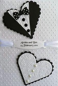 1000 Images About Wedding Tuxedo Dress Hearts Cards On Pinterest Wedding Cards Tuxedo