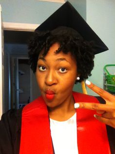 The Perfect Graduation Cap Style For Natural Hair! Styles For