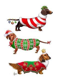 1000 dachshund art