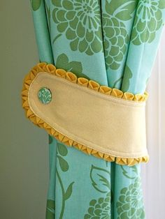 Make It 5 DIY Curtain Tie Backs Ties Curtain Tie Backs And