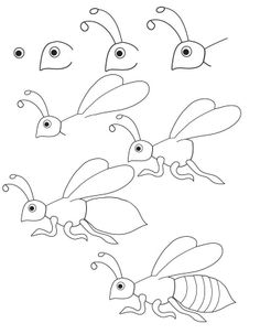Tyler Vo shows us how to draw a decent bee (following LMS