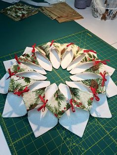 Origami Candle Mat Full Free Tutorial  By Babs At