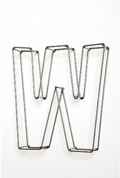 Letters, Wire and Wire letters on Pinterest