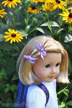 American Girl Doll Hairstyle For Short Hair Dolls Doll Hairdo