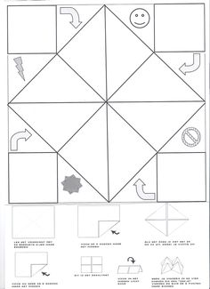 Fill in and decorate this printable cootie catcher for fun