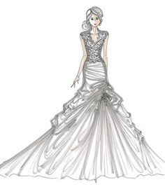 1000+ images about wedding dress sketchs on Pinterest